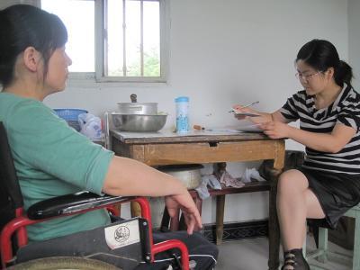 区人大代表为残疾人实行法律援助